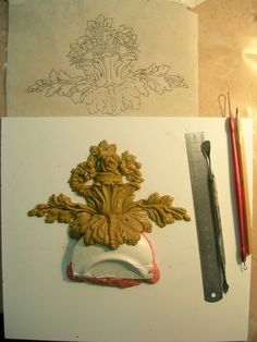Plaster Cornice, Plaster Art, Woodcarving, Modeling, Clay, Wallet, Flower, Furniture, Carving