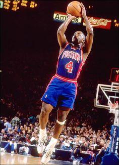 Joe Dumars, Pistons - No. 18 -- first round, 1985 - NBA Draft Steals Detroit Basketball, Detroit Sports, Basketball Legends, Sports Basketball, Basketball Players, Bad Boy Pistons, Joe Dumars, Sports Stars, Nba Stars