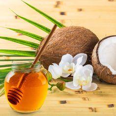 DIY-Kosmetik-Rezept für eine selbst gemachte Kokosöl Maske gegen trockene Haut aus nur 3 Zutaten - ist wirklich blitzschnell gemacht und spendet viel Feuchtigkeit ...