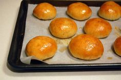 Char Siu Bao (Chinese Baked Barbecued Pork Buns ~ *seriously* from scratch, including a recipe for Char Siu pork ... you can skip that step and purchase already-cooked Char Siu from a Chinese barbecue house)