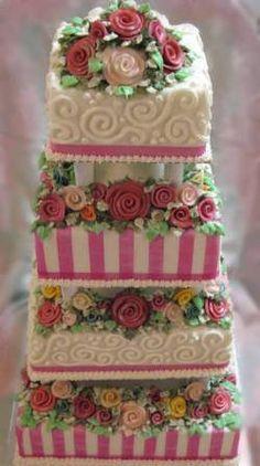 Candy Cane style wedding cake