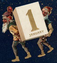 Elves ushering the new year