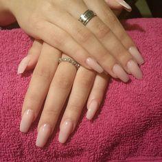 """Love these... so soft... #acrylicnails #acrylicextensions #coffinnails #ballerinanails #nailart #nailextensions #nails #nailswag #nailure #ilovemyjob…"""