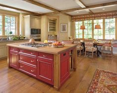 There are so many ideas that we can apply in kitchen decoration and the design of red vintage kitchen is one of them. Description from mykitcheninterior.com. I searched for this on bing.com/images