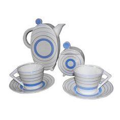 Rare Clarice Cliff English modernist Art Deco ceramic Tea set available from http://www.artdecocollection.com