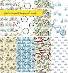 bikes bicycle pattern - Fondos de pantalla chulos para el móvil (6)