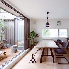 kcoさんの、そらのま,シンプルな暮らし,へーベルハウス,シンプルライフ,シンプル,新築,植物,観葉植物,ダイニング,庭,ウッドデッキ,キッチン,のお部屋写真