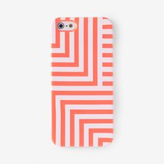 iPhone 5 Case in Neon Coral Signature Zig Zag - Kate Spade Saturday