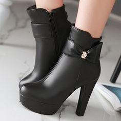 Ericdress Szexi Bowie díszített Platform Knight Boots