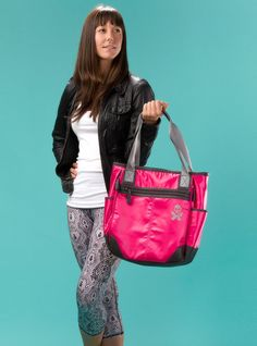Betty Designs Lexie Tote with Skull Butterfly Lava Pink - Betty Designs - Betty Designs