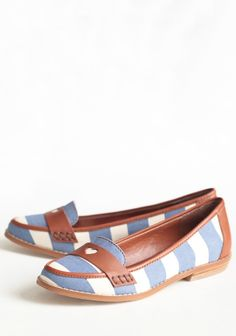 Beatnik Baby Striped Loafers By Shelly's | Modern Vintage Shoes