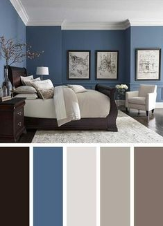 dark blue bedroom walls dark blue bedroom color schemes light blue and gray bedroom luxurious bedroom color scheme ideas dark dark blue bedroom dark blue walls decorating Room Color Ideas Bedroom, Best Bedroom Colors, Bedroom Color Schemes, Home Color Schemes, Interior Color Schemes, Relaxing Bedroom Colors, Paint Ideas For Bedroom, Colors For Bedrooms, Bright Bedroom Colors