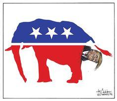 Canada:  trump cartoon 5 |  How The Rest Of The World Sees Donald Trump: 12 Foreign Political Cartoons