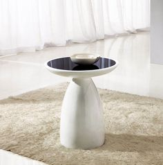 giomani designs aura black glass and white hi gloss side table living emporium home interiors