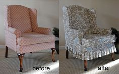 High Quality Wingback Slipcover