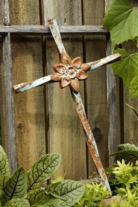 Arise Iron Cross -  The twisted metal and blooming 8pointed flower are eye-catching.