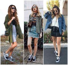 """Cansada de combinar seu velho Vans Old Skool com calça ou short jeans e moletom? Você acha que esse tênis é usado apenas por quem tem um estilo """"skatista'? Nesse post você vê inspirações de look diferentes e modernos com esse sneaker que é um clássico!"""