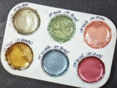 Diy watercolor with pigment powders by Donna Salazar. Great DIY.