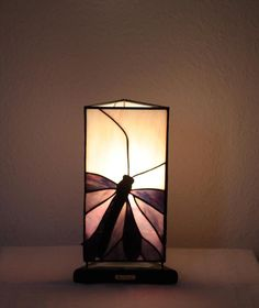 "Our stained glass tiffany style table lamp: ""Butterfly Effect"" www.mana-glaskunst.de"