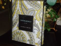 Cynthia Rowley Gray/Yellow/White Medallion Toile Shower Curtain. My favorite new addition that inspired my gray and yellow bathroom!