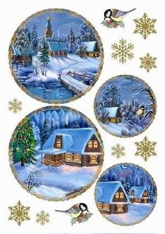 Vintage paper decoupage crafts Ideas for 2019 Christmas Decoupage, Christmas Gift Tags, Christmas Paper, Christmas Pictures, Xmas Cards, All Things Christmas, Vintage Christmas, Christmas Crafts, Christmas Decorations