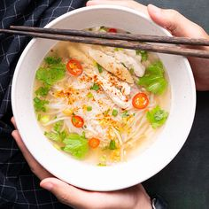 Marion's Kitchen is packed with simple and delicious Asian recipes and food ideas. Thai Noodle Soups, Thai Chicken Noodles, Thai Soup, Chicken Soup, Cherokee, Coriander Cilantro, Soup Broth, Road Trip Snacks, No Bake Snacks