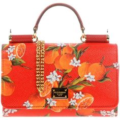 Dolce & Gabbana Handbag ($715) ❤ liked on Polyvore featuring bags, handbags, red, hand bags, floral leather handbags, red purse, leather man bags and floral purse