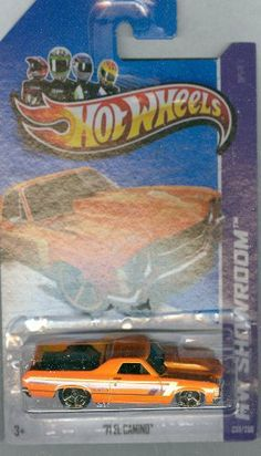 Hot Wheels 2013-233 HW Showroom '71 El Camino ORANGE 1:64 Scale by Mattel…
