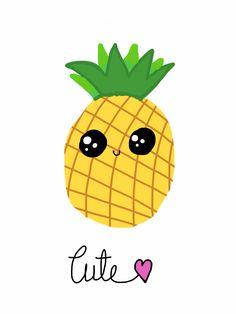 A cute pineapple ❤️  drawn by Tanvi Singh  pinterest: @singhtanvi