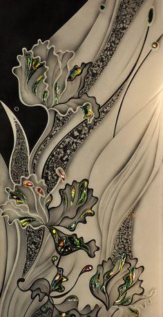 New stained glass door window patterns ideas Glass Painting Designs, Paint Designs, Stained Glass Door, Stained Glass Patterns, Anime Comics, Fractal Art, Glass Design, Fabric Painting, Flower Art