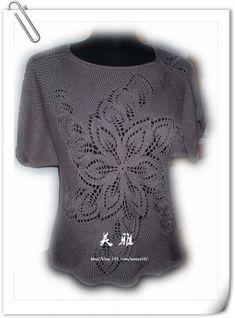 """Джемпер """" Круговорот из листьев"""" ( из интернета) / Вязание спицами / Вязание для женщин спицами. Схемы"""