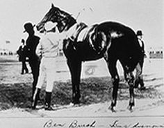 Ben Brush | Winner of the 22nd Kentucky Derby | 1896 | Jockey: Willie Simms | 8-Horse Field | $4,850 prize --- **This is the first running of the Derby at its current distance of 1.25 miles. This is also the first Derby that included a blanket of roses.