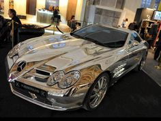 OMGoodness! Pure white gold Mercedes Benz