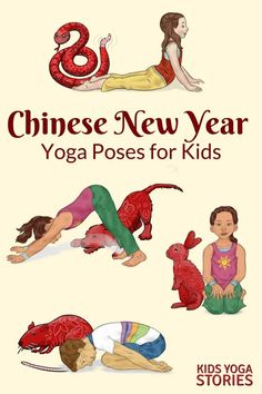 Looking for fun kids yoga class ideas? This collection of yoga ideas is for your home, classroom, or studio. Each theme has 5 books + 5 yoga poses for kids. Chinese New Year Crafts For Kids, Chinese New Year Activities, Chinese New Year Party, Chinese New Year Decorations, New Years Activities, Gross Motor Activities, Chinese Crafts, Kids Yoga Poses, Yoga For Kids
