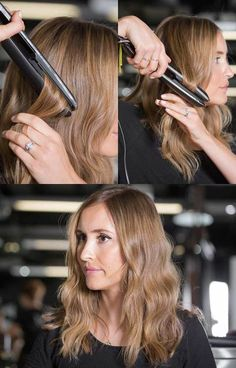 9 ways to use straightening irons :: New hairstyles using ghd stylers