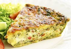 This delicious savoury pie is extremely easy to make -simply mix all ingredients together and bake. It& great enjoyed fresh out of the oven with a side salad, or cut up and chilled for school or work lunches. Bisquick Recipes, Quiche Recipes, Egg Recipes, Cooking Recipes, Recipies, Sandwich Recipes, Savoury Slice, Savory Tart, Savoury Dishes