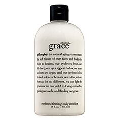 What it is:Amazing Grace Firming Body Emulsion is a toning body moisturizer that helps to purify, moisturize, and revitalize dry, aged, or wrinkled skin with a unique blend of antioxidants and vitamins E and C. Chock full of luscious moisturizing pro