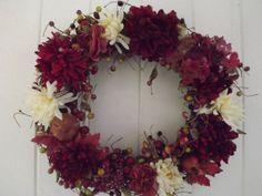 Autumn Splendor Fall Grapevine Wreath with by BlessMyNestShop, $60.00