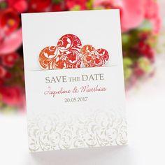 Save the Date Karte Hochzeit Liebesfeuer: https://www.meine-hochzeitsdeko.de/save-the-date-karte-hochzeit-liebesfeuer