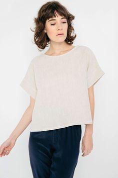 simple woven t-shirt,   Elizabeth Suzann