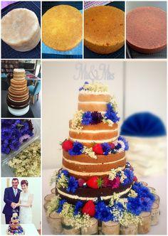 Naked wedding cake  journey