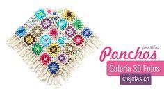 Galería: 31 Fotos de Capas y Ponchos para niñas a Crochet #ctejidas http://blgs.co/qk-3xx