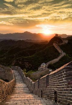Great Wall of China, amazing view (and sunset!)