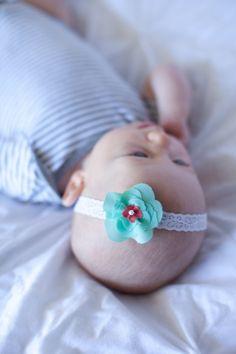 Baby headband, mint baby headband, coral headband, coral baby headband, coral nursery, Mint and coral nursery, mint and coral headband