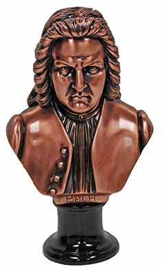 10 Inch Large Copper Johann Sebastian Bach Head Bust Display Figurine * You can find out more details at the link of the image.