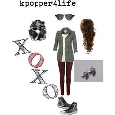 Wolf Exo Inspired #3 by kpopper4life on Polyvore featuring polyvore fashion style Topshop Fat Face Warehouse Converse Clair Beauty Shabby Chic