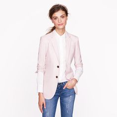 J.crew Collection Womens Ludlow Jacket in Italian Cashmere in Pink (violet dust) | Lyst
