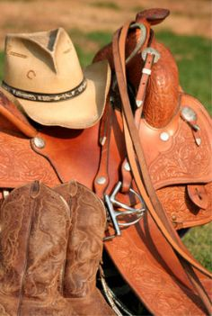 Country life--so thankful to have grown up a country girl and be married to my own good ole boy. Jackson and Lilly are our little cowboy and cowgirl! Cowboy Gear, Cowgirl And Horse, Cowboy And Cowgirl, My Horse, Horse Tack, Cowboy Boots, Horses, Cowboy Spurs, Cowboys And Angels