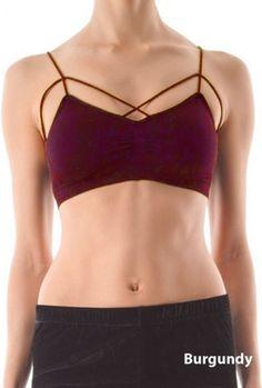 Bralette  https://sincerelysweetboutique.com/clothing/intimates/bralettes.html - #bralette #bra #intimates - Bralette - Complex Simplicity Criss Cross Padded Burgundy Bralette