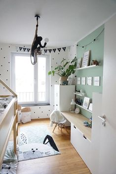 Baby Bedroom, Baby Boy Rooms, Baby Room Decor, Kids Bedroom, Ikea Kids Room, Nursery Decor, Ikea Kura, Ikea Malm, Living Room Red